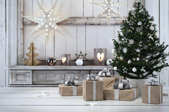 addobbare un negozio per Natale
