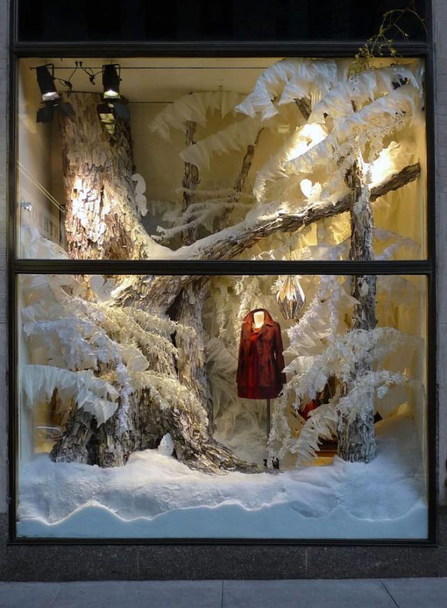 allestire una vetrina natalizia
